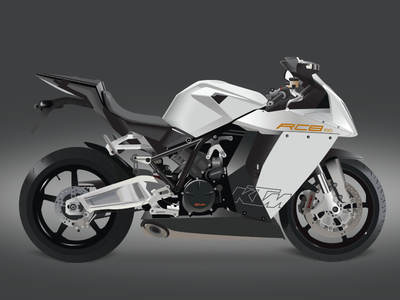 Ktm RC8 vector motorcycle graphic design illustrator vector rc8 ktm