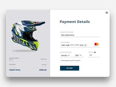 Daily UI #002 Credit Card Checkout ui 002 design user interface design enduro web design ui design daily ui eshop ux design checkout credit card