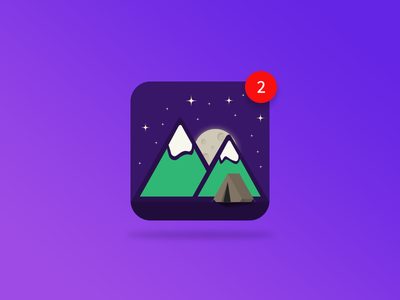 Daily UI #005 App Icon illustrator mountains camping ui 005 graphic design design user interface design travel app icon web design ui design daily ui