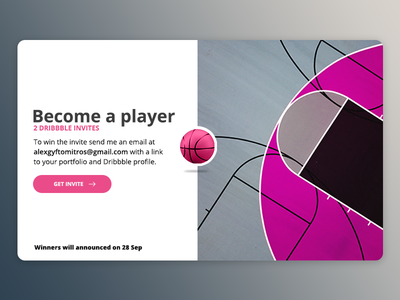 2 Dribbble Invites invite giveaway dribbble player invitation invite