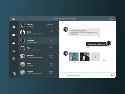 Daily UI #013 - Direct Messaging designapp message direct messaging codestudiocs webdesign uxdesign uidesign graphic design ux design user interface design ui daily ui ux ui design design web design
