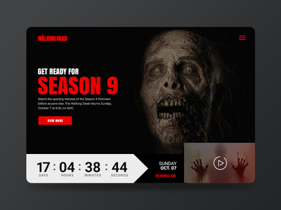 Daily UI #014 - Countdown Timer artdirection countdowntimer 014 walkingdead landing page codestudiocs webdesign typography uxdesign uidesign graphic design ux design user interface design ui daily ui ux ui design design web design