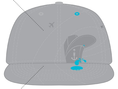 Overseased HAT hat graphic design fabric grey overseased