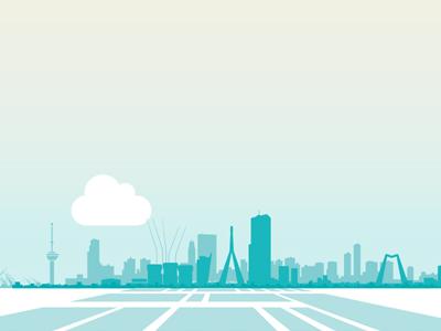 Rotterdam Skyline graphic skyline illustration