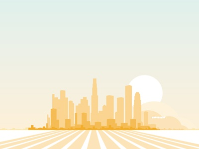 LA Skyline graphic skyline illustration