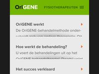 Origene mobile interface