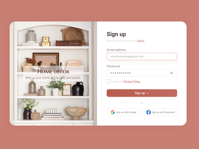 Sign up page forms design buttons inputs forms website registration form registration form sign up sign in log in web design web ux ui design app design app adaptive design
