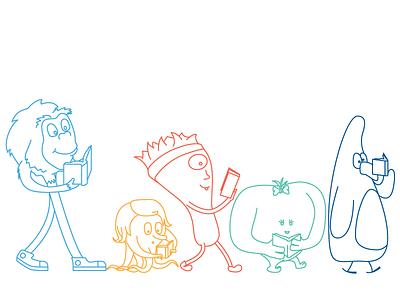 Tween Book Club Monsters illustration