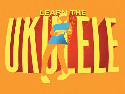 Ukulele Class Poster illustration