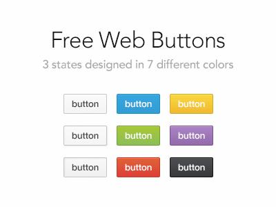 Web Buttons (PSD)