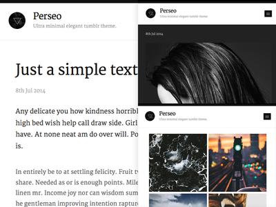 Perseo - Free tumblr theme