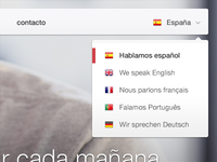 Language menu