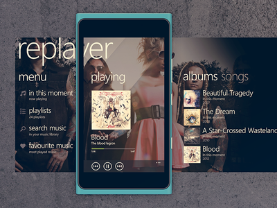 Replayer for Windows Phone windows phone windows mobile player music music player mobile app windows