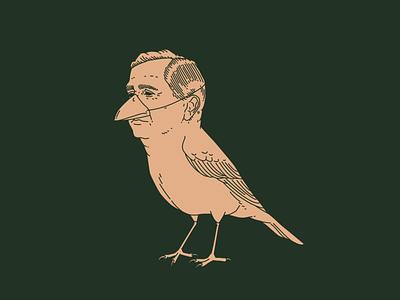 Martin flat illustrator design beak bec complexe branding minimal vector line man wings mask covid bird drainville martin