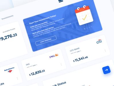 Bank Dashboard Closeup 2 cards ui bank app bank app interface patterns vector landing ux ui icon branding design