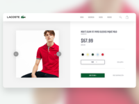 Lacoste Landing page