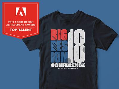 Adobe Awards Top Talent Big Design toptalent adobe shirt color logo design branding adobeawards toptalent2019