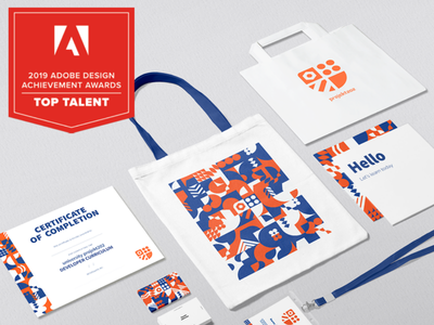 Adobe Awards Top Talent u202 brand system logo collateral color branding projekt202 u202 university design adobe adobeawards toptalent2019 top talent