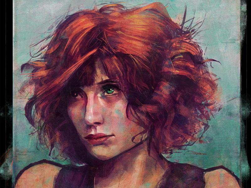 First Post! digital illustration portraits illustration drawing illustrator photoshop digital painting portraiture