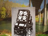 Rocket cats print instagram 900px
