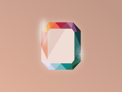 Diamond experiment illustration graphic design gravit designer rainbow jewel diamond
