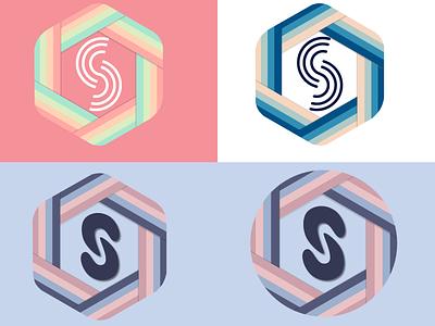 Logos icon rainbow white purple blue pink illustration gravit designer server logo