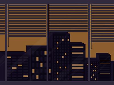 Cityscape design illustration gravit designer sunset city building