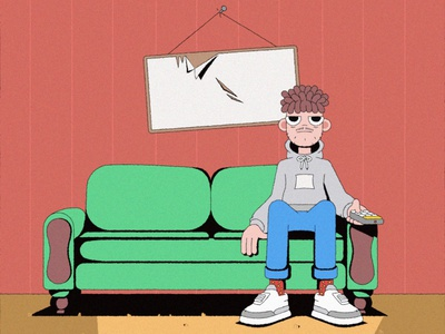 Just an illustration of a lonely guy. design atmosphere illustration character design adobe illustrator