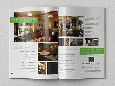 Rodrock Homes Magazine Spread advertisement marketing spread print layout ad magazine print design