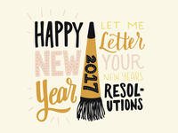 New Year's Resolution Lettering