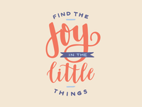 Resolution Lettering | Joy