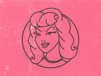 Pinup Girl Icon
