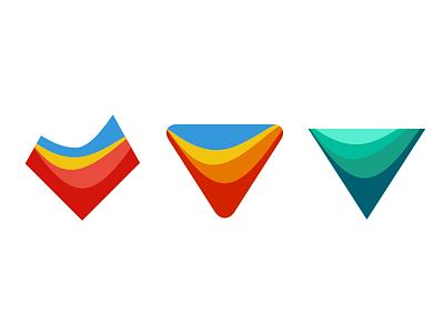 Explorations topology logo symbol gradient gradation