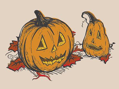 Pumpkin drawing vector illustrator doodle halloween pumpkin