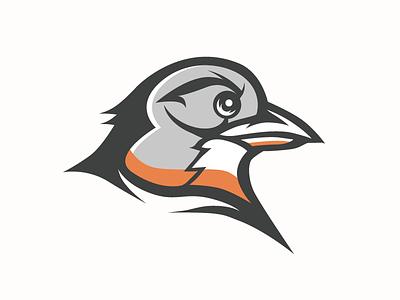 Robin orange sports illustrator vector bird mascot