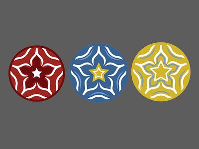 Hellebore Explorations geometric hellebore illustrator vector logo