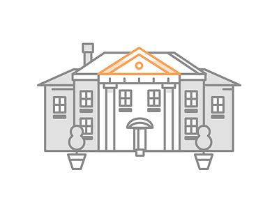 Big Picture architecture house illustrator vector illustration