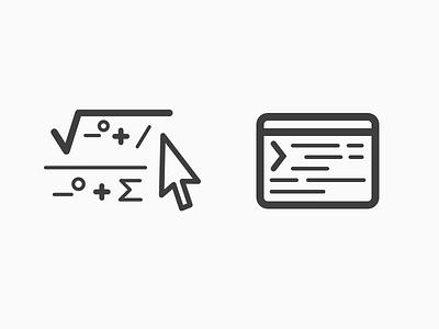 Icons formula line art math icons