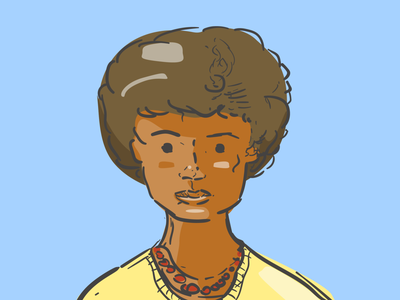 Accountant persona ux line art portrait