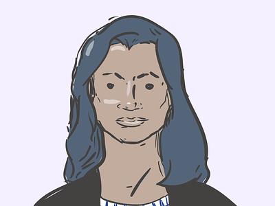 CFO persona illustrator line art portrait illustration