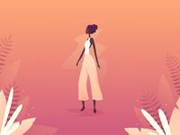 Girl in Peach