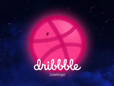 Swing_inc first contact space dribbble illustration swing firstshot debut hello