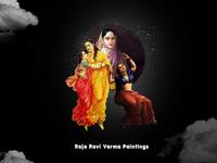 R Raja Ravi Varma Paintings @36daysoftype