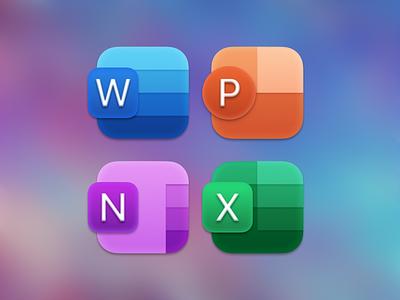 Big Sur Office Icons branding apple ios icon design photoshop vector icon big sur