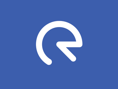 R logo blue photoshop vector flat illustration logo design logo