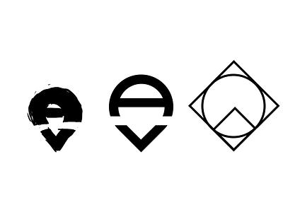 AV logo study asset vision material design material logo apple app icon design ios icon photoshop vector