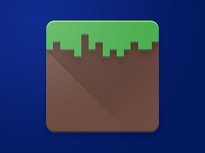 Minecraft Icon minecraft vector photoshop material design material logo ios icon design icon apple app