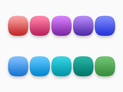 Gradient Palette aliud vector photoshop material design material logo ios icon design icon apple app