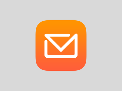 Mail Icon mail vector photoshop material design material logo ios icon design icon apple app