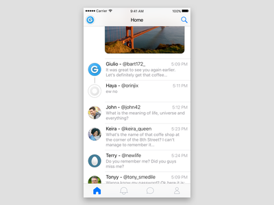 iOS Twitter Client apple design apple ios android twitter illustrator photoshop sketch prototype ux ui app
